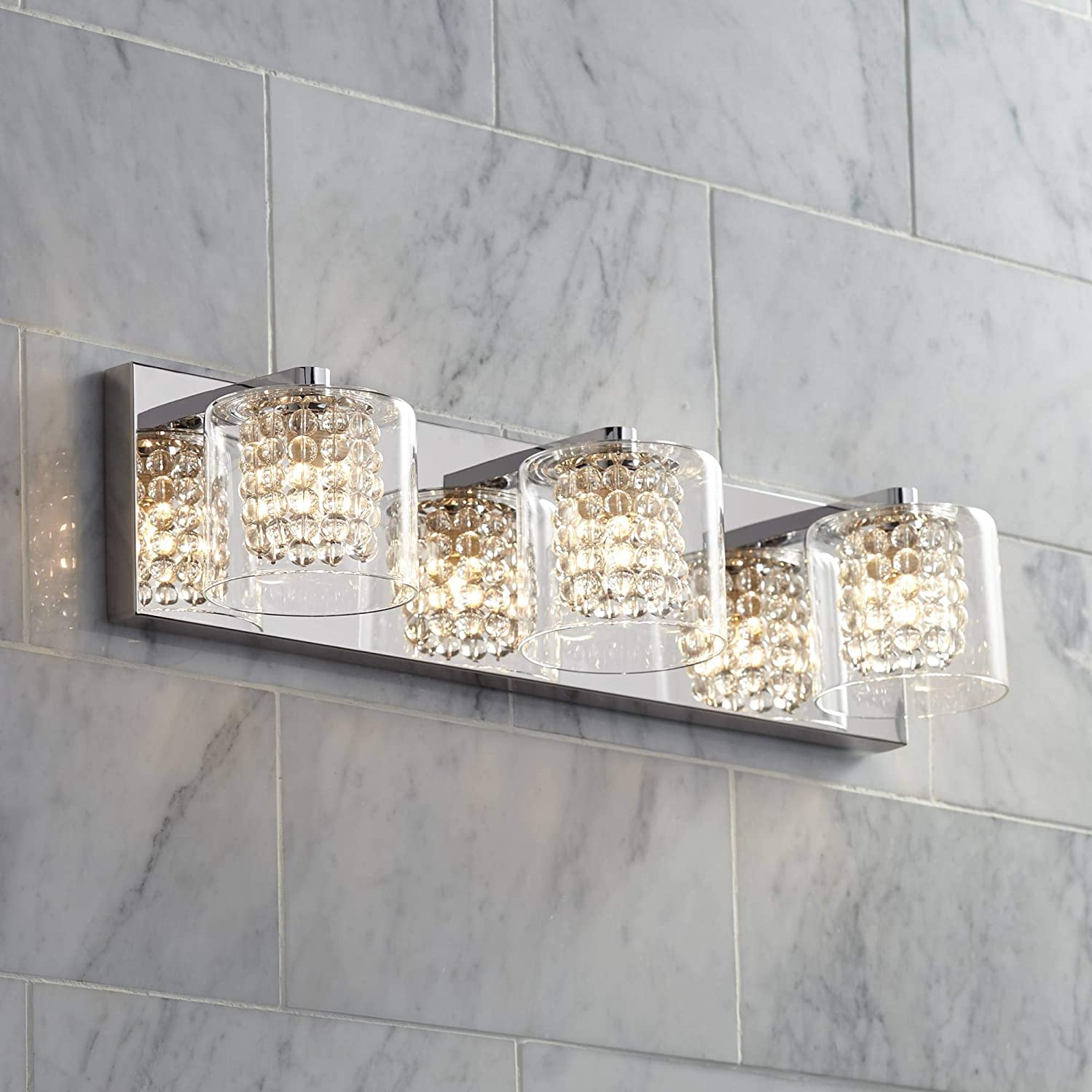 Miraculous Possini Euro Coco 20 1 2 Wide Chrome 3 Light Bath Light Possini Euro Design Home Interior And Landscaping Staixmapetitesourisinfo