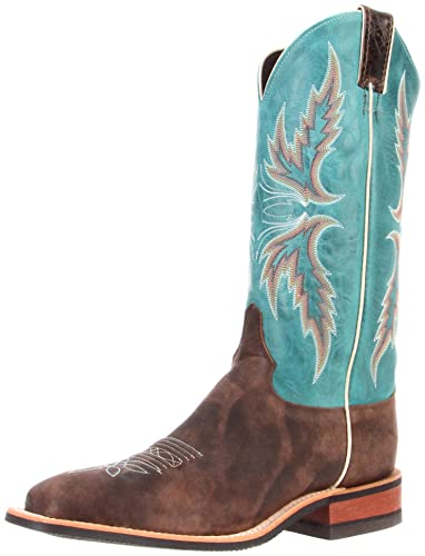 "82fa7f74a2529 Justin Boots Women's U.S.A. Bent Rail Collection 13"" Boot Wide Square  Double Stitch Toe Performance"
