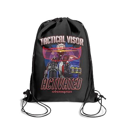 Amazon.com: FAJDLD Overwatch-red-Logo-Drawstring Mochila ...