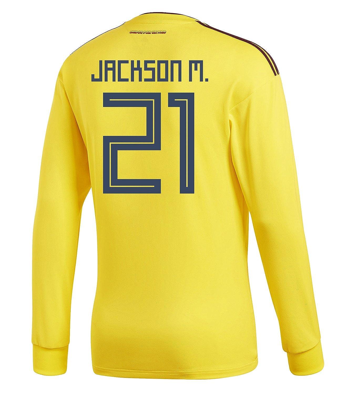 adidas Mens JACKSON M. #21 Cup Colombia Home 背番号 Small Long Sleeve Soccer Jersey World Cup 2018/サッカー ユニフォーム ジャクソン 背番号 21 コロンビア ホーム用 長袖 B07B9PQXHC US Small, 若葉区:ba8b72df --- 6530c.xyz