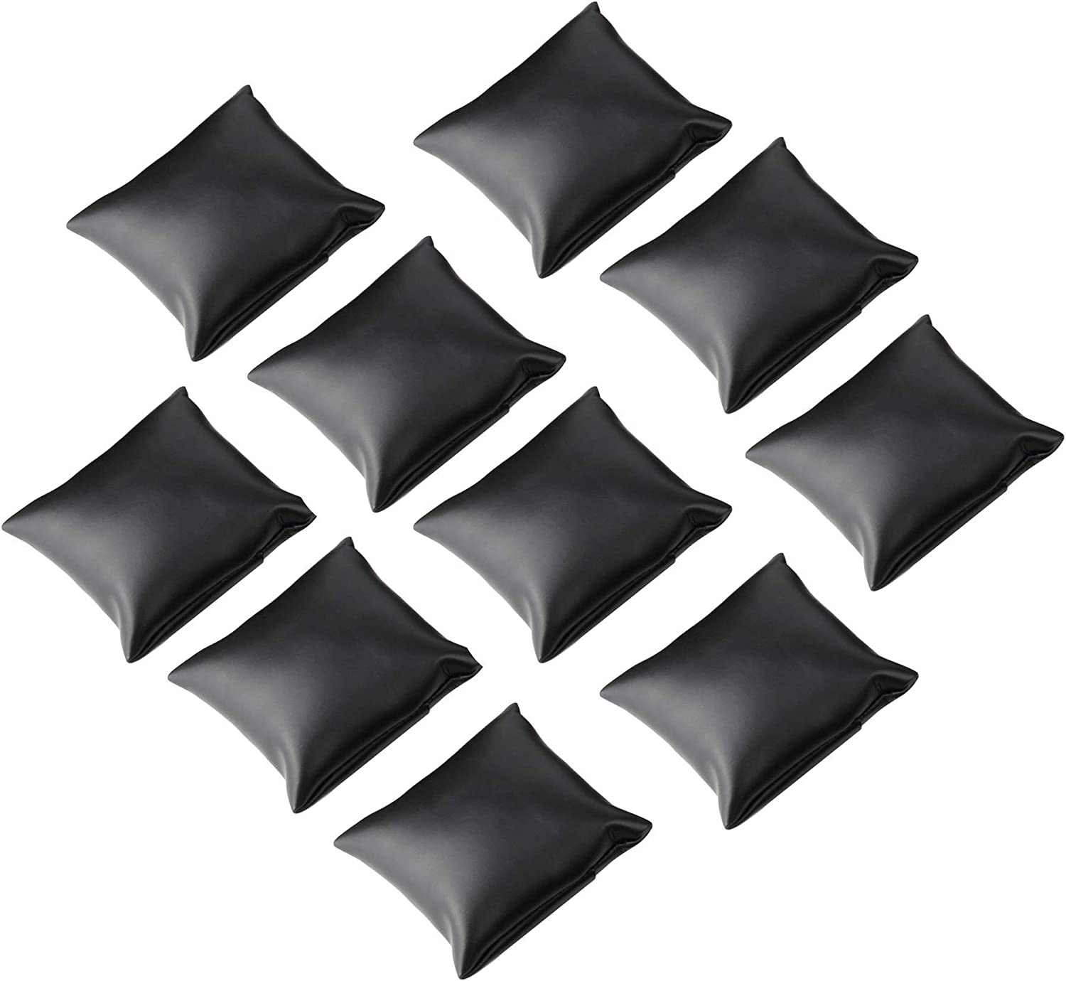 Sansheng 10pcs PU Leather for Pillow Jewelry Show - Black