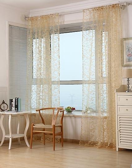 Merveilleux Hook Type Curtain Yarn Bedroom Cortinas Living Room Tulle Window Screening  Modern Sheer Curtain Flocked Luxury