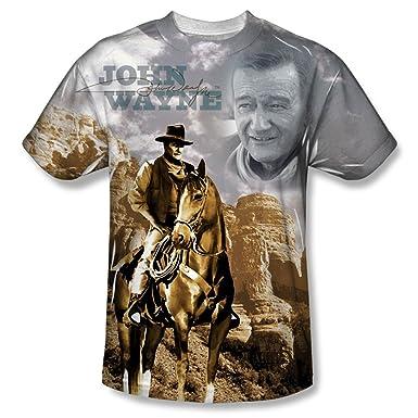 76312fb3 Amazon.com: John Wayne - Men's T-shirt Ride Em Cowboy: Clothing