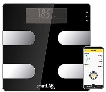 965911745651 SmartLab Fit W - Báscula Digital de análisis Corporal, con Bluetooth,  báscula de Grasa Corporal para medir Peso, calorías, Agua, Masa Muscular,  ...