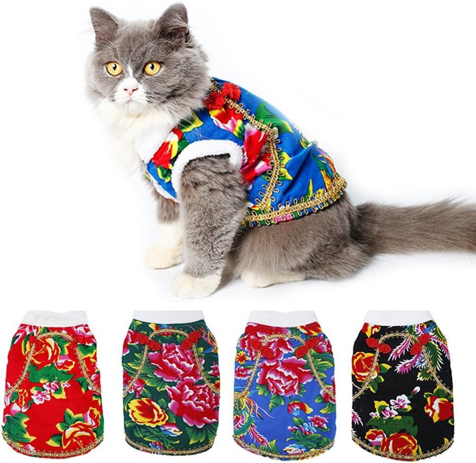 Triumilynn - Disfraz de Perro para Mascota, Estilo Chino Floral ...