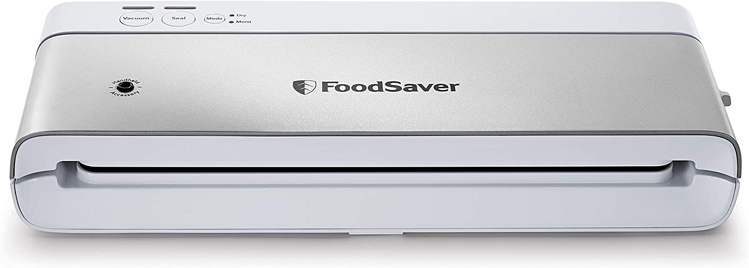 FoodSaver VS0160 Sealer PowerVac Compact Vacuum Sealing Machine, Vertical Storage, White
