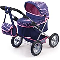 Bayer Design Cochecito de muñeca, Trendy Color Azul, Rosa 68 x 67 x 41