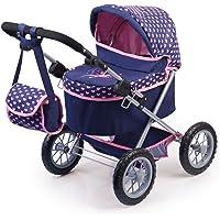 Bayer Design Cochecito de muñeca, Trendy Color Azul, Rosa 68 x 67 x 41
