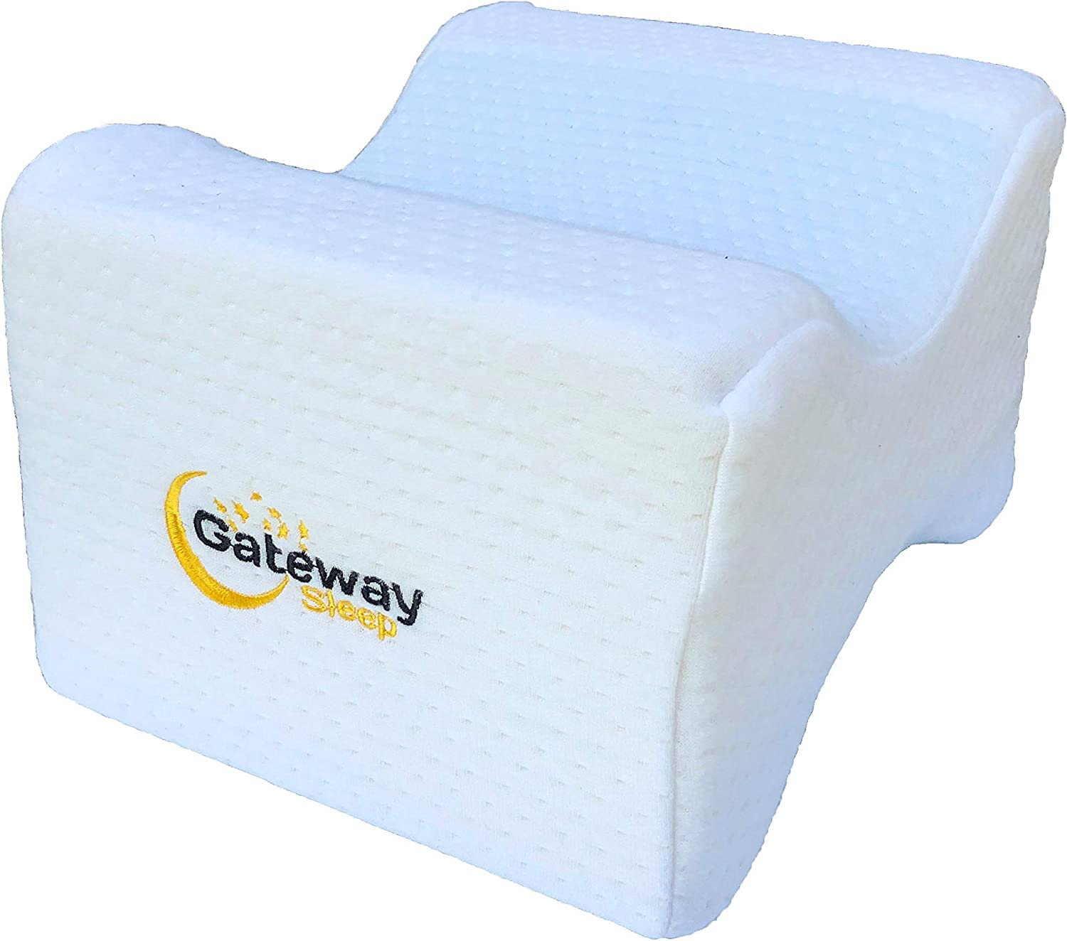 Memory Foam Knee Pillow with Washable Organic Cover for Side Sleepers - Cool Gel Memory Foam Knee Pillow for Back Pain - Post Knee Surgery Pillow - Pregnancy Support for Better Sleep