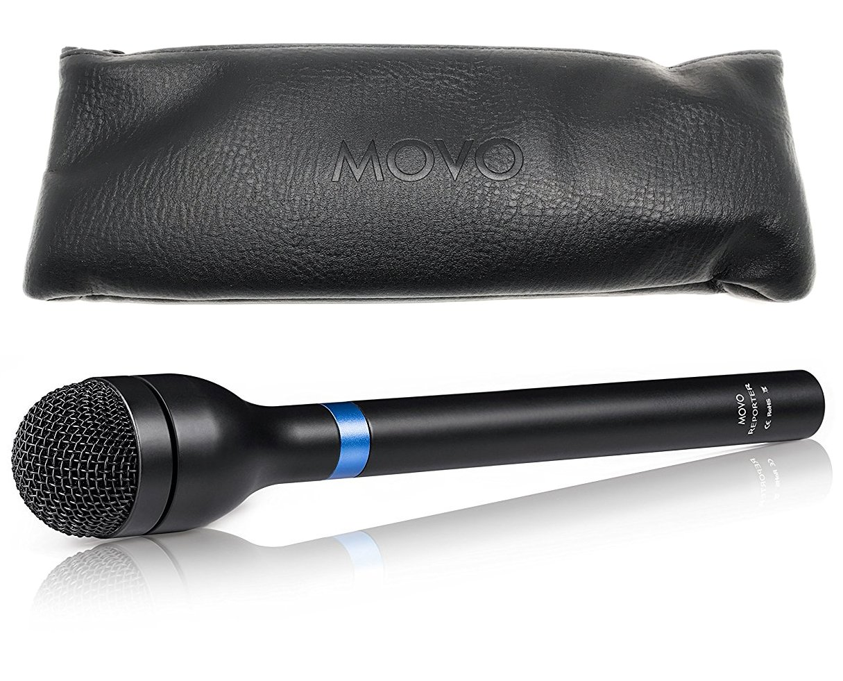 Movo HM-M2 Dynamic Omnidirectional Handheld XLR Reporter/Interview / Presentation Microphone