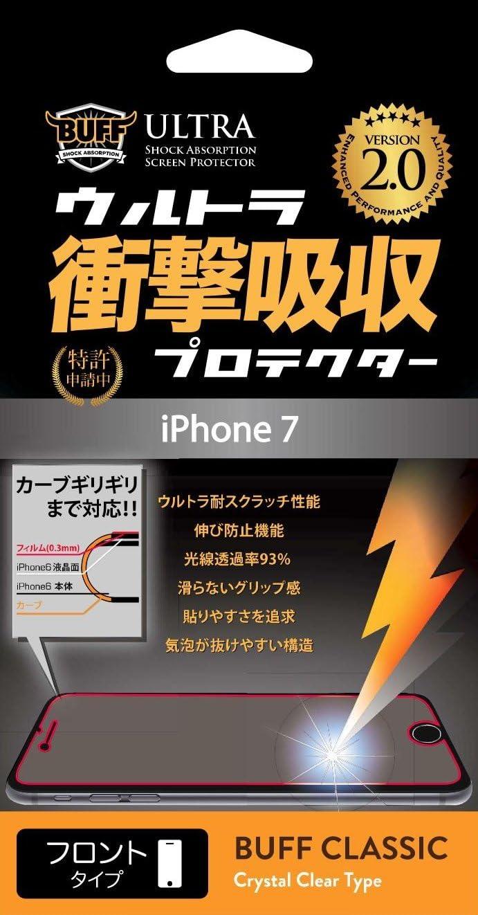 BUFF iPhone 8/7用 液晶保護フィルムBUFF ウルトラ衝撃吸収プロテクター BE-028C