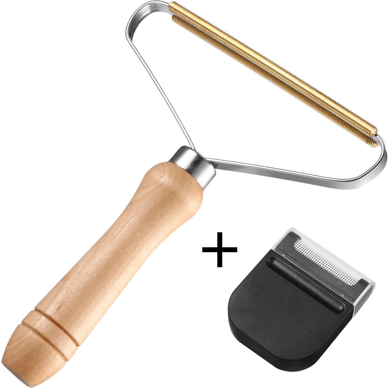 Maquinilla de afeitar portátil de 2 piezas, afeitadora de pelusa ...