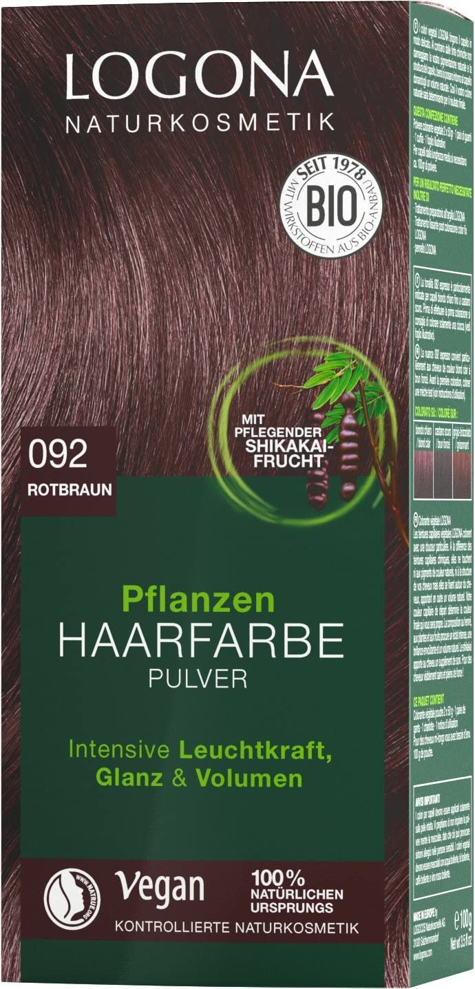 LOGONA Naturkosmetik Pflanzen-Haarfarbe polvo