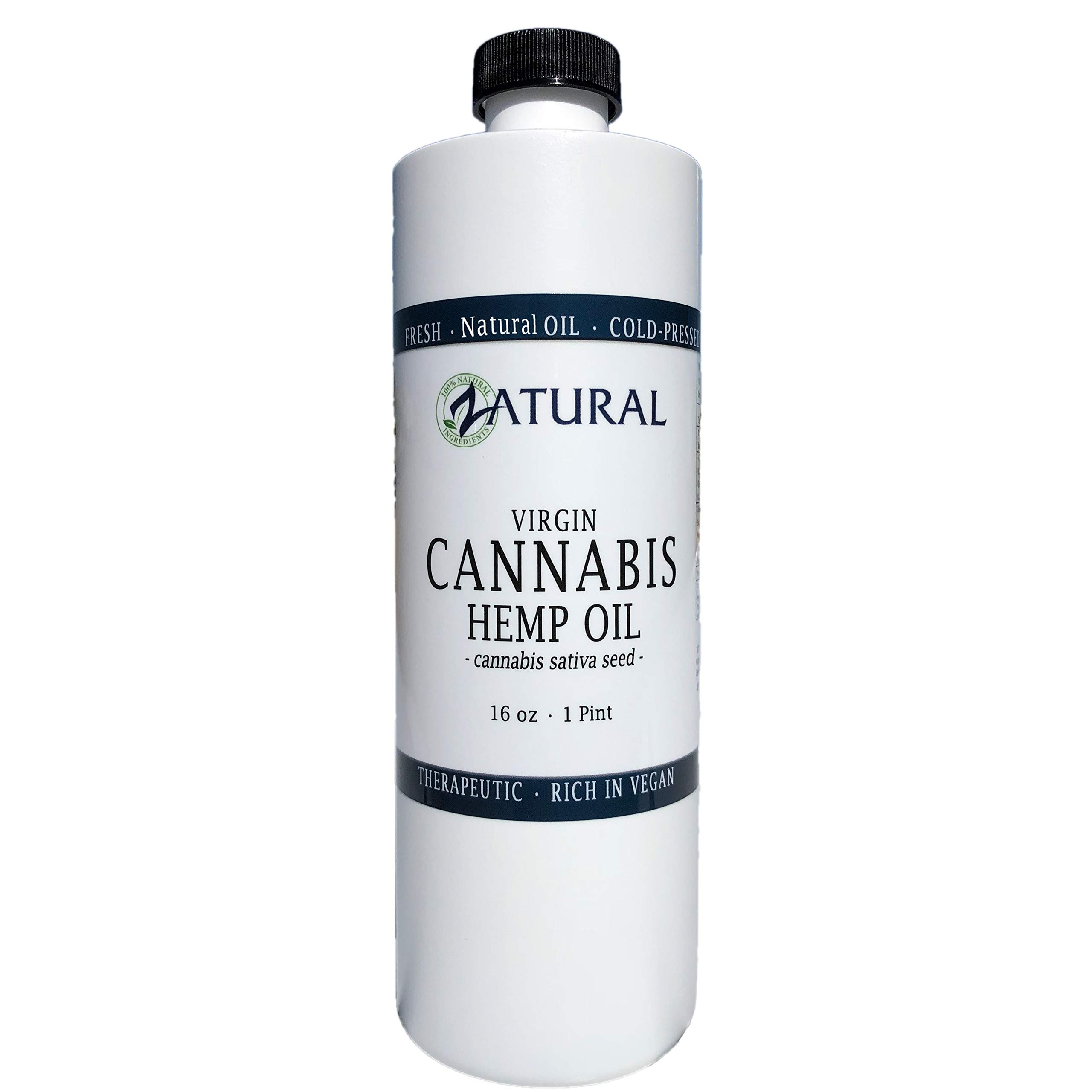 Hemp Oil Anti-Inflammatory_Pain Relief_100% Pure_Cold Pressed_High Vegan Omegas 3 & 6_No Fillers or Additives, Therapeutic Grade (16 Ounce) (16 Ounce) (16 Ounce)