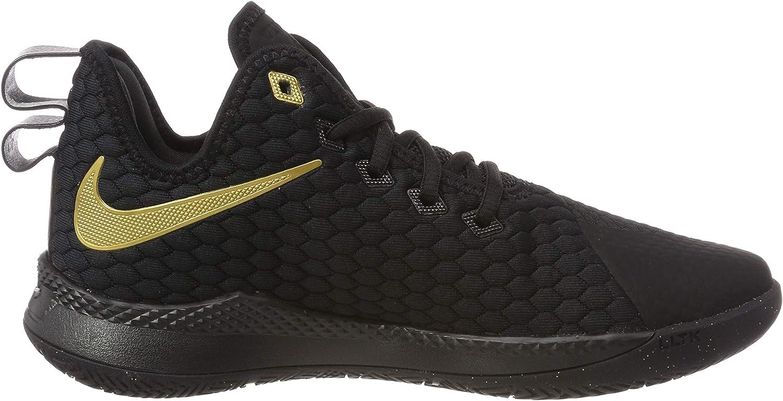 Nike Men's Lebron Witness Iii Running Shoes Multicolour Metallic Gold Black 003