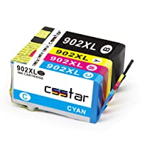 CSSTAR Compatible Ink Cartridges Replacement for HP 902 XL 902XL Combo Pack Work with OfficeJet Pro 6978 6962 6958 6978 6970 6968 6958 6954 6960 6950 Printer - Black, Cyan, Magenta, Yellow