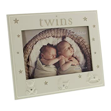 Twins Photo Frame Gift - Twin Baby Frame With Icons: Amazon.co.uk ...