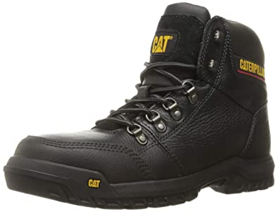55ebef39ee59 Caterpillar Men's Outline Steel Toe Work Boot Brown: Amazon.co.uk ...