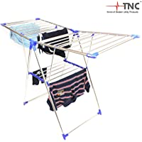 TNC Stainless Steel Blue Butter Fly Cloth Drying Stand