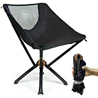Cliq Camping Chair - Most Funded Portable Chair in Crowdfunding History. | Bottle Sized Compact Outdoor Chair | Sets up in 5 Seconds | Supports 300lbs | Aircraft Grade Aluminum