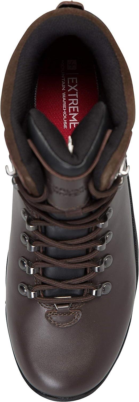 s/échage Rapide Semelle EVA rembourr/ée Respirantes Mountain Warehouse Boots Vibram imperm/éables Hommes Brecon antibact/ériennes randonn/ée rev/êtement en Cuir