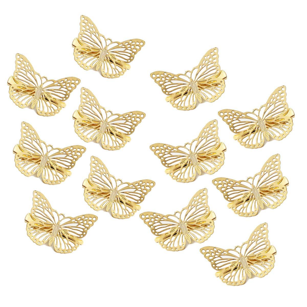 Gold Butterfly Hair Pins Imitation Bridal Jewelry Hair Clip Hair Accessories