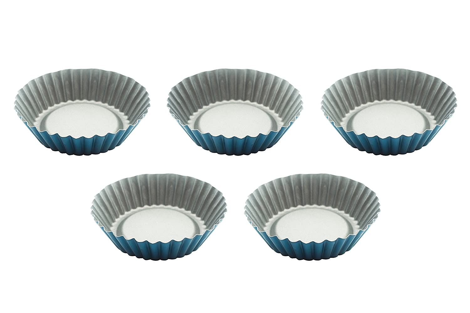 amazon com eco haus living round tart quiche pan set premium 5