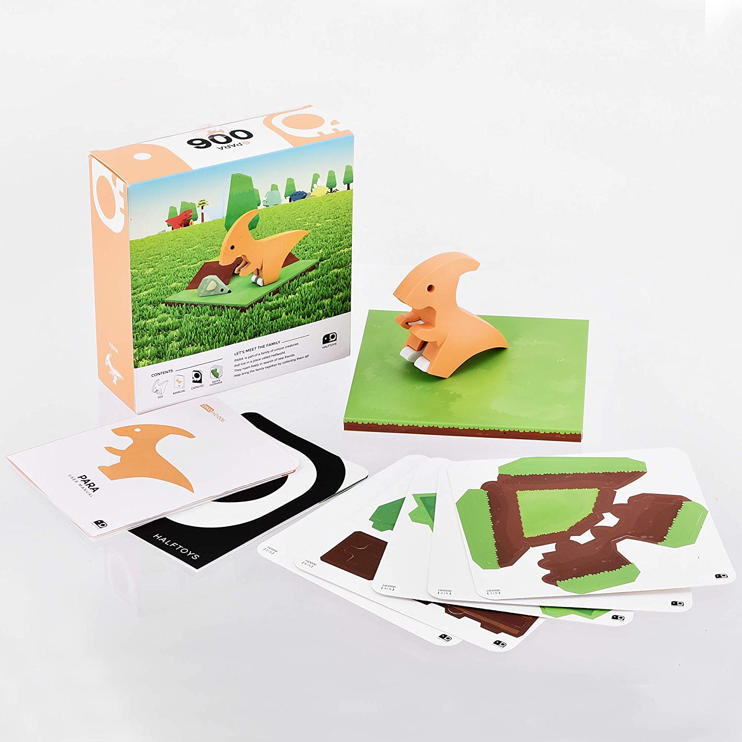 Para-Fine Motor Development HALFTOYS Magnetic 3-D Puzzle Dinosaur Figures Toy Set for Kids /& Family
