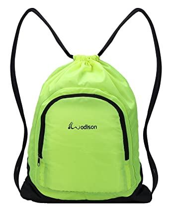 Amazon.com: WODISON Basic Waterproof Sports Gym Sackpack Bag ...