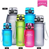 UZSPACE Sports Water Bottle 350 & 500 & 650 &1000ml BPA Free Tritan Material - Fast Water Flow, Flip Top, Opens With 1-Click