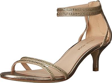 Pelle Moda Fillis Rhinestone Detail Suede Kitten-Heel Ankle Strap Dress Sandals NxVdwlFR