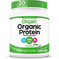 Orgain Organic Unflavored Plant Based Protein Powder, Natural Unsweetened - Vegan, Non Dairy, Gluten Free, No Sugar…