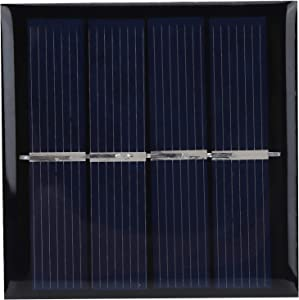 AMONIDA Covered with Epoxy Resin 0.45W 2V 58x58mm Solar Panel Solar Panel Charger, Solar Panels, Low Cost for Small Home Projects Scientific Projects