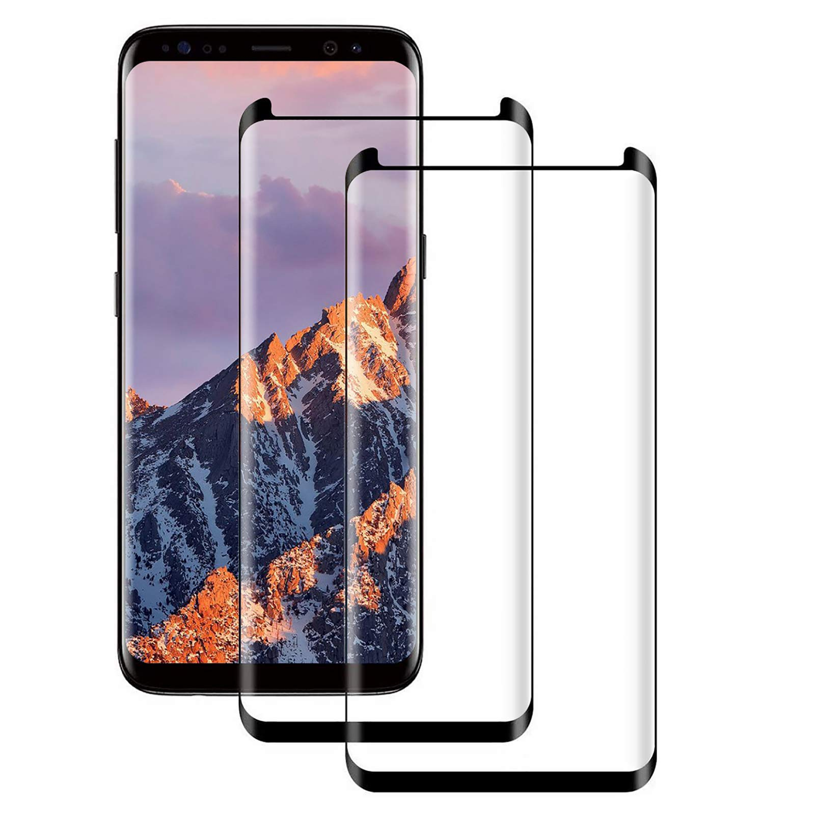 Galaxy S9 Screen Protector, [2 Pack] Case Friendly,Bubble-Free,9H Hardness 3D Curved, Scratch-Resistant for Samsung S9…