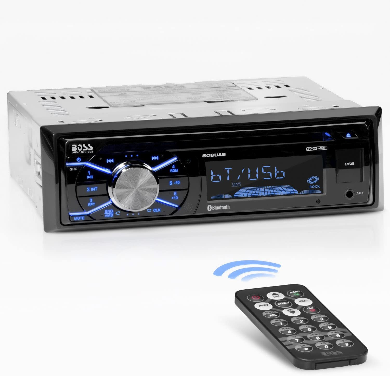 Amazon.com: Boss Audio Systems 508UAB Multimedia Car Stereo - Single Din,  Bluetooth Audio/Hands-Free Calling, Built-in Microphone, CD/MP3/USB/AUX  Input, AM/FM Radio Receiver, Wireless Remote Control: Car ElectronicsAmazon.com