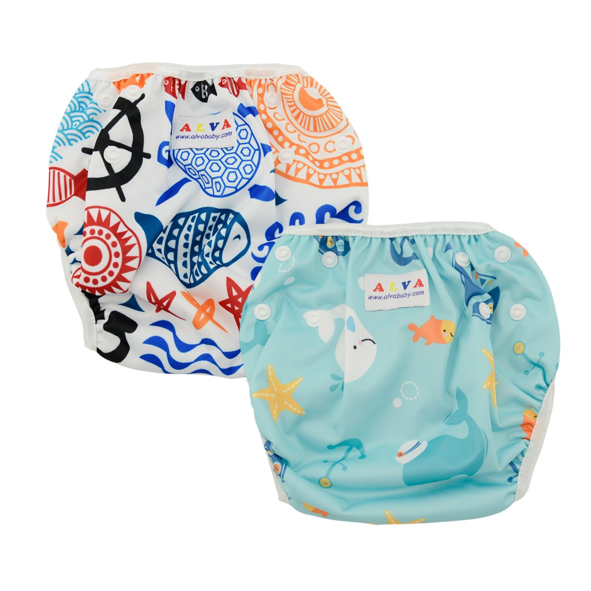 Alva Baby Lovely Swim Nappies Reuseable Adjustable Swimming Pants 2Pack DYK05-06-EU Alvababy