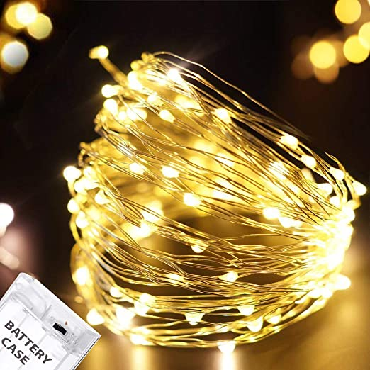 designer fashion ade7f 51a3b Citra Battery Operated Sliver String Light 3M 30 LED Decorative String  Fairy Lights Warm White