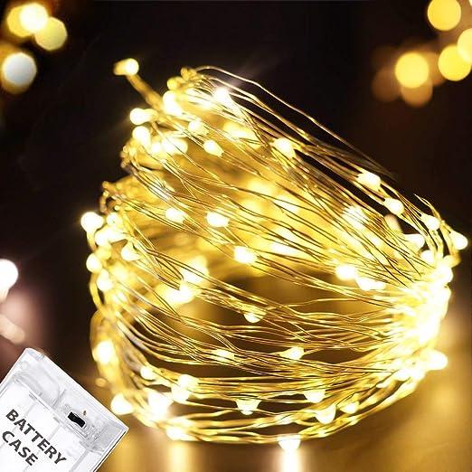 designer fashion 20f23 d5dec Citra Battery Operated Sliver String Light 3M 30 LED Decorative String  Fairy Lights Warm White