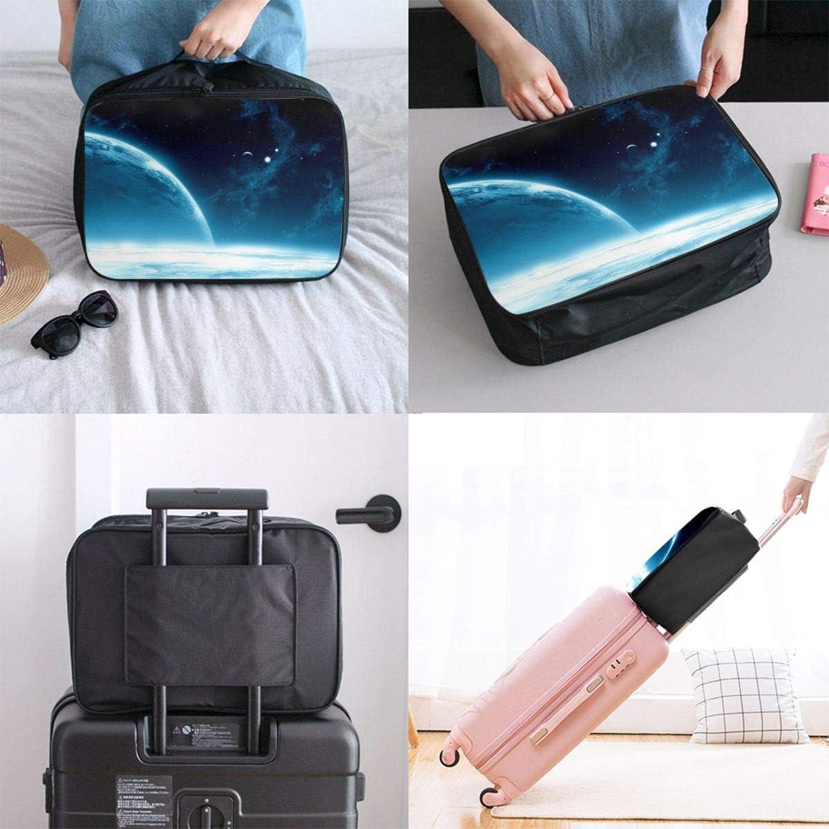 Yunshm Space Planet Light Galaxy Customized Trolley Handbag Waterproof Unisex Large Capacity For Business Travel Storage