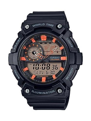 Casio Reloj Analogico-Digital para Hombre de Cuarzo con Correa en Resina AEQ-200W-1A2VEF: Amazon.es: Relojes