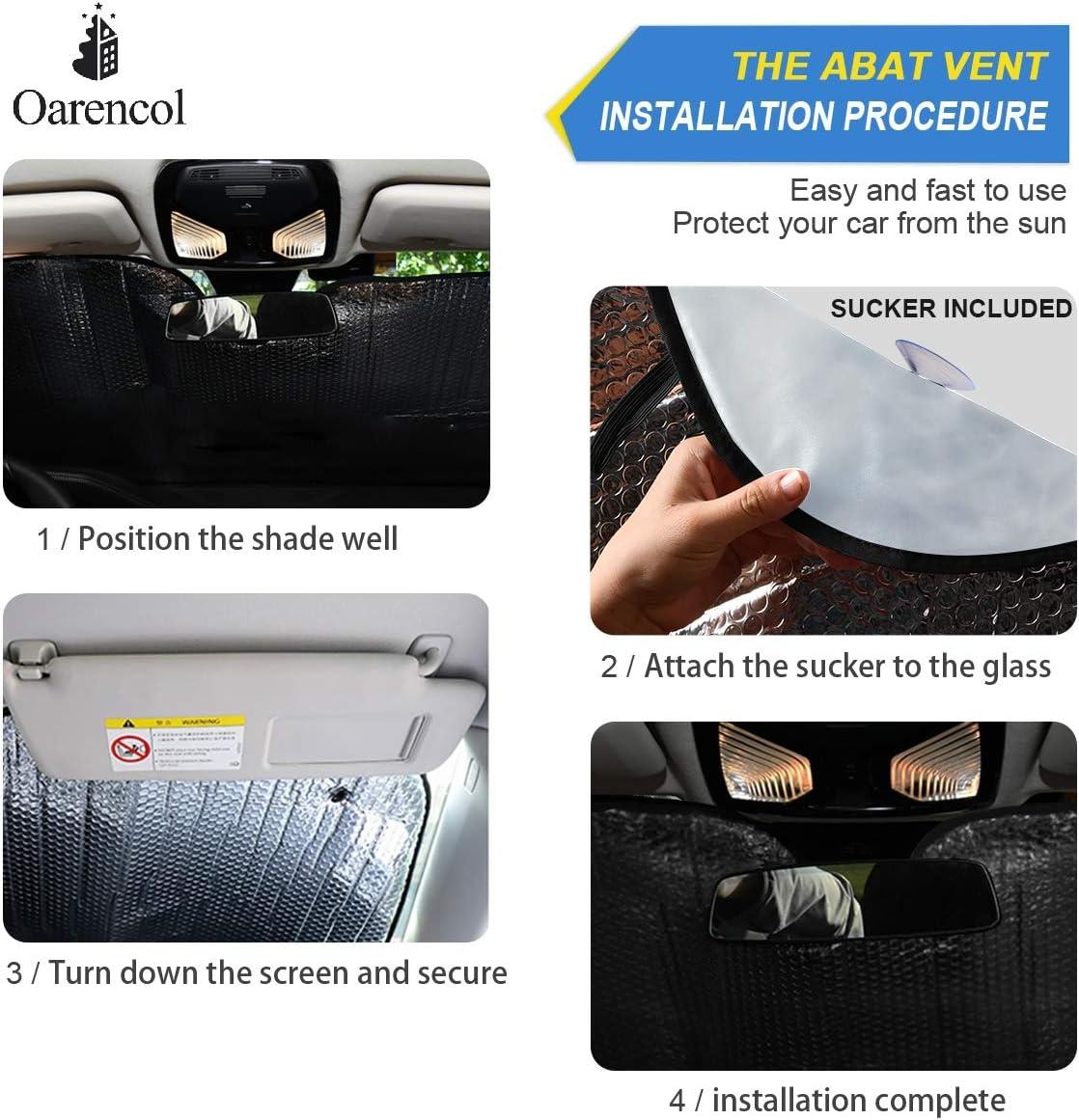 139,7 x 70,1 cm Parasol plegable para parabrisas de coche Oarencol Animal Wolf