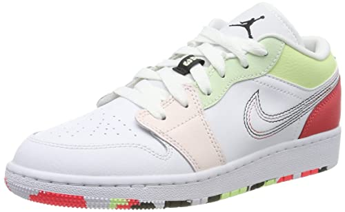 Nike Air Jordan 1 Low (GS), Zapatos de Baloncesto para Niñas