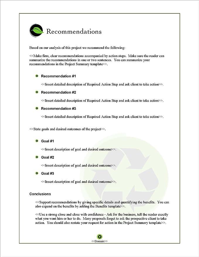 Amazon Com Proposal Pack Environmental 1 Business Proposals