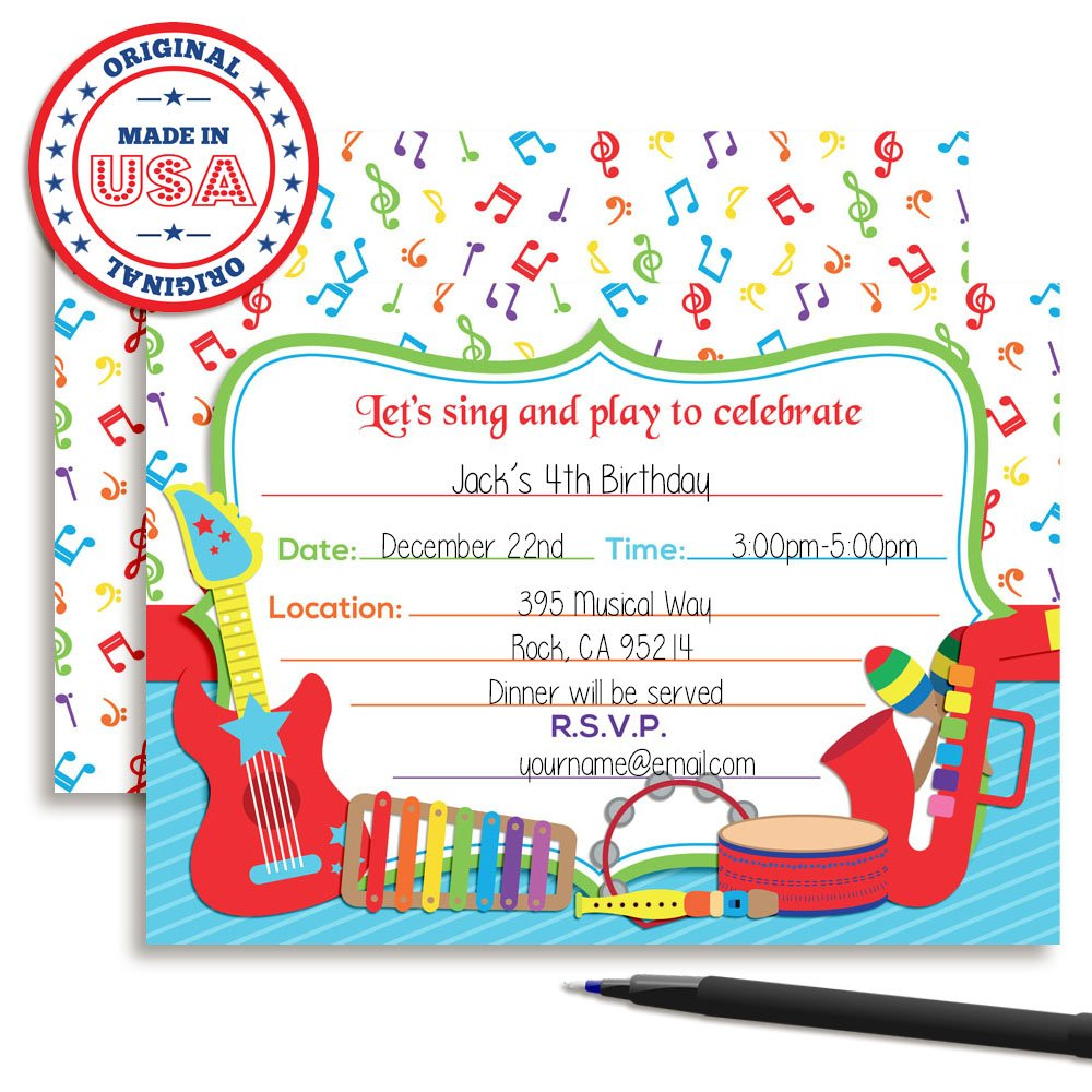 Amazon.com: Musical Instruments Sing and Play Themed Birthday Party ...