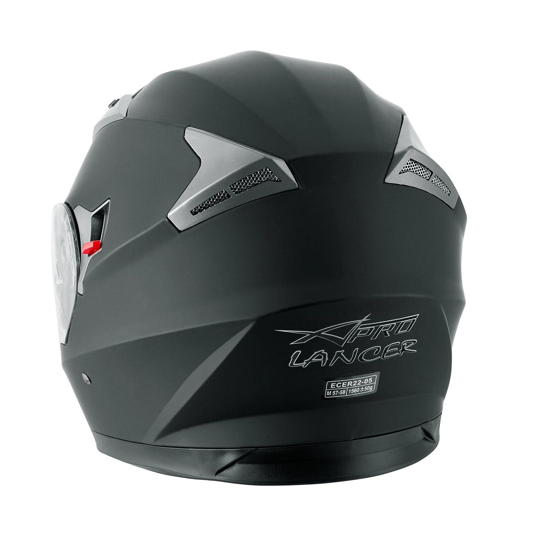 A-Pro Helm Klapphelm Innensonnenblende Motorradhelm Modular Schwarz L