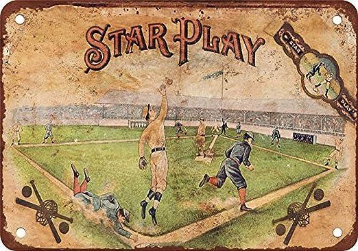 Vvision Star Play Baseball Cigars El Arte Pintura de Hierro ...
