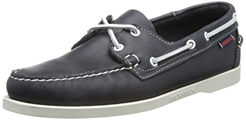 Sebago DOCKSIDES Men's Boat Shoes, Blue (Blue NITE Leather), 6 UK(