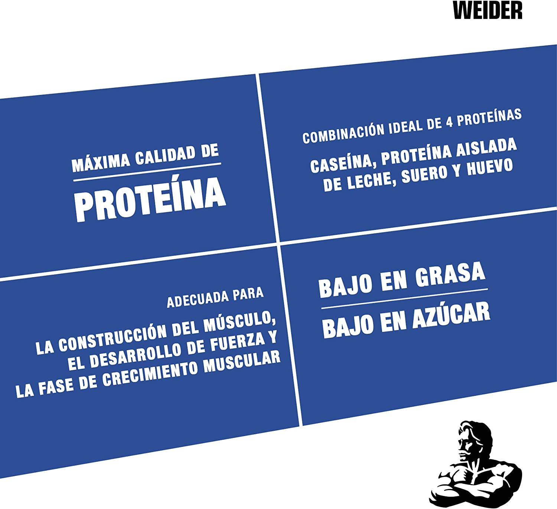 Weider Protein 80 Plus, Proteina de suero de suero de leche, Sabor Chocolate, 500 gr