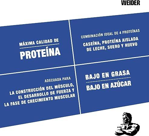 Weider Protein 80 Plus, Proteina de suero de suero de leche, Sabor Vainilla, 500 gr