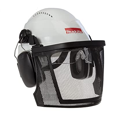 Makita p-54140 casco de seguridad con visera, multicolor ...